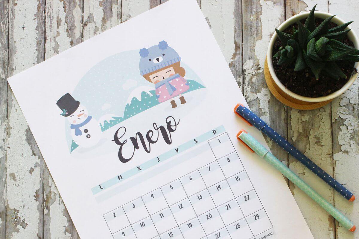Calendario descargable 2017