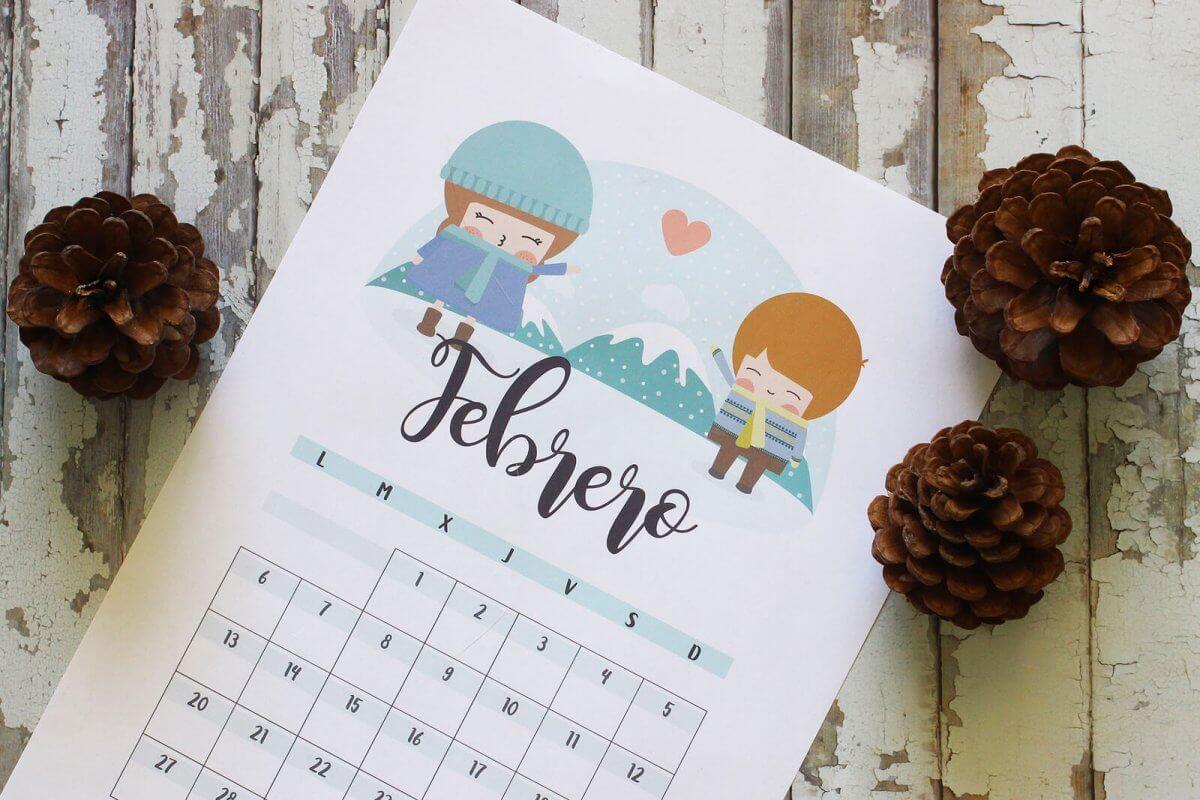 Calendario descargable 2017 Happynois